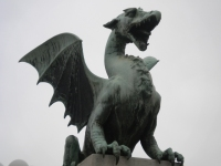Ljubljana Streets 3 - Dragon Bridge
