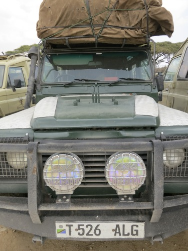 The vehicle of choice for the African safaris is a modified Land Rover, complete with open-air cut-outs in the roof for better viewing