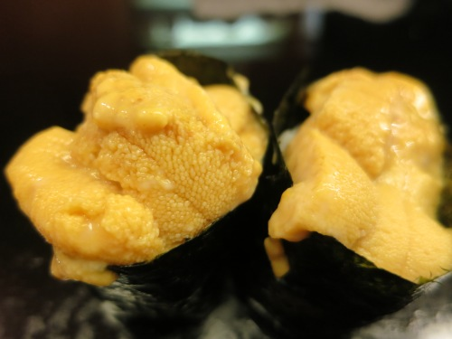 ...and Uni, of course (Sea Urchin Roe).  This stuff is pretty much the ocean's equivalent of pure butter.