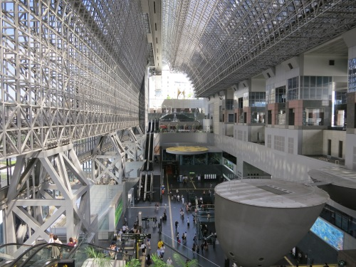 The interior of Kyoto Station (Bus and Train Terminal)