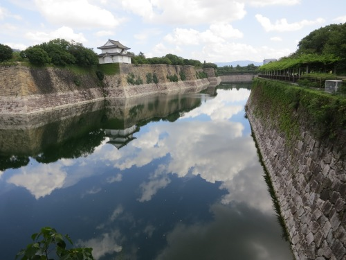 The outer moat of Osaka-jo