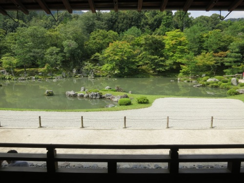 Looking over the grounds of the Tenryuji Temple