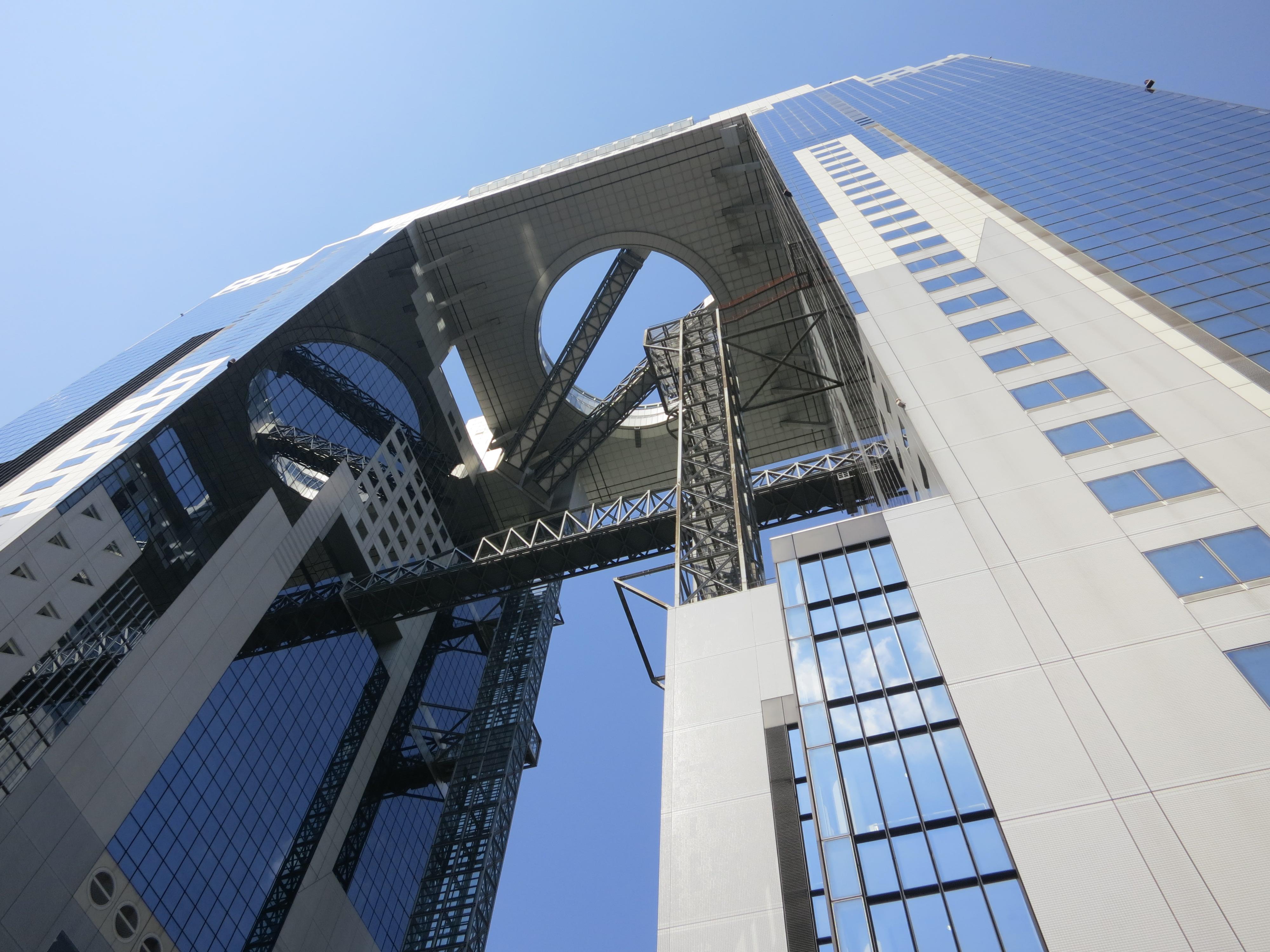 Umeda Sky Building 1 – Looking Up  Temporarily Lost