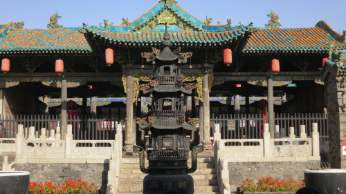 The main hall of the Chen Huang Temple