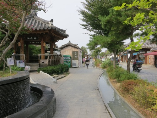 The streets of Jeonju's Hanok Village