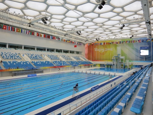 Olympic park 12 water cube temporarily lost for Beijing swimming pool olympics