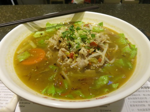 Beef Noodle - one of the most ubiquitous dishes that Taiwan has to offer (a noodle soup made with beef broth)