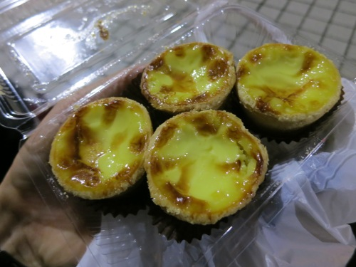 Sweet egg tarts (again, similar to the Portugueuse Egg Tarts I found in Shanghai).  This version was made with Black Tea, however, adding yet another subtle layer of flavor