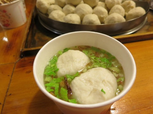 Fishball Soup, another common dish not only found in Taiwan, but all across Southeast Asia