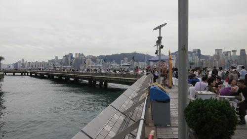 The Kowloon Promenade,  overlooking the Harbor