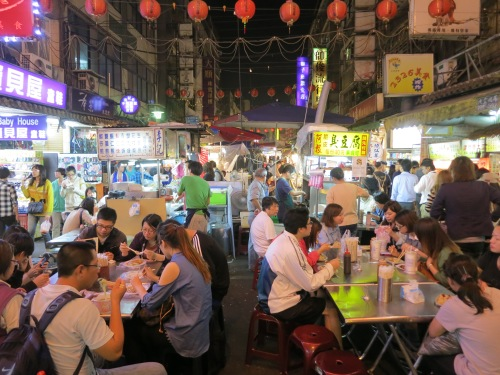 A scene from the energetic Raohe Night Market (my personal favorite)