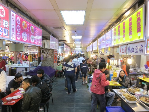 The new food court located at the basement level of the Shilin Night Market