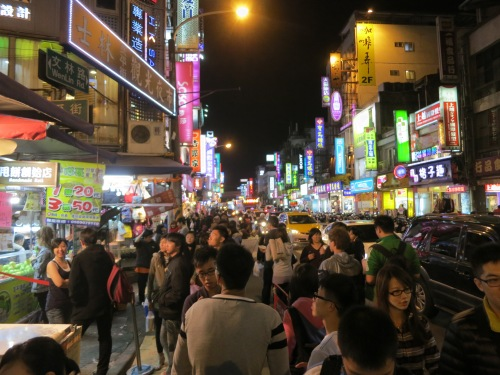 Stalls along the outer edge of Shilin Night Market