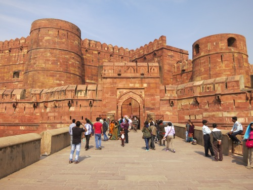 The entrance to the Agra Fort