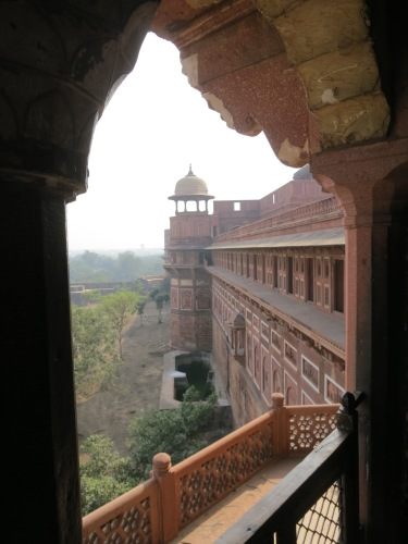 Agra Fort 33 - Walls through Archway
