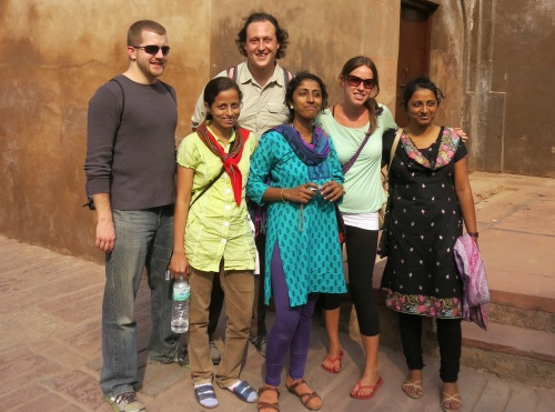 A few new friends made while touring around Agra