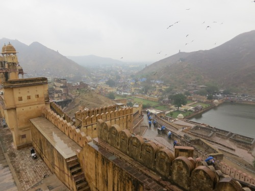 The view from the walls of the fort
