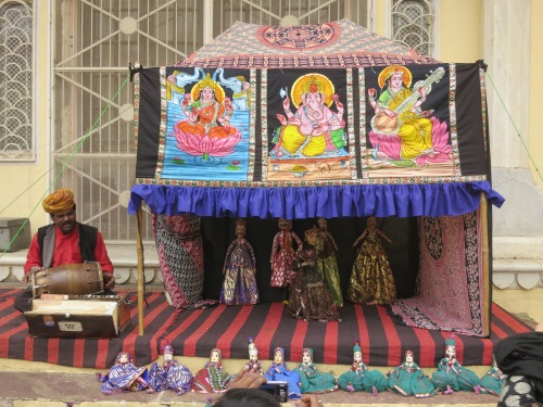 A puppet show near the City Palace