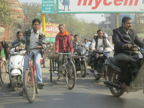"Agra is another one of those ""Head-on-a-Swivel"" places, where traffic seems to come at you from every angle"