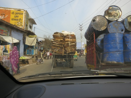 On the drive to Agra, watching the traffic can be half the fun
