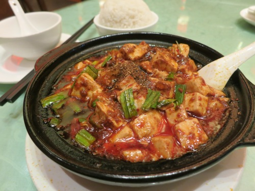 The spicy Ma Po Doufo (or Tofu) of Sichuan Province fame