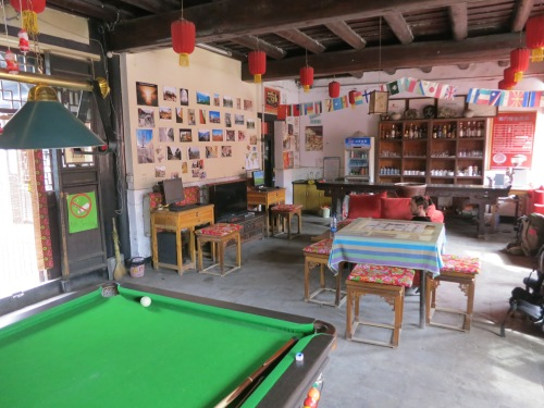 Of course, the common room of any hostel is the focal point, where you can meet like-minded travelers coming from all parts of the globe.  Pictured here is a colorful example from Pingyao, China