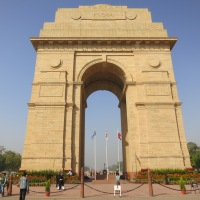 A Fort, a Mosque, a Pillar, and a Tomb in New Delhi