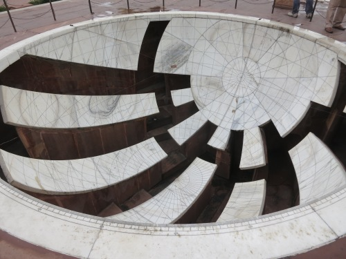 One of many astronomical instruments within the intellectual grounds of the Jantar Mantar
