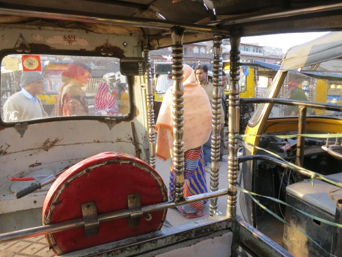 Negotiating traffic in my Tuk-Tuk