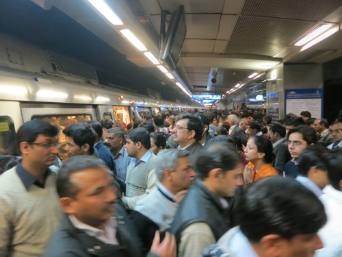 I always held the assertion that the subway systems of the likes of Tokyo and Beijing were the most crowded in the world -- that is, until I attempted the Delhi metro system