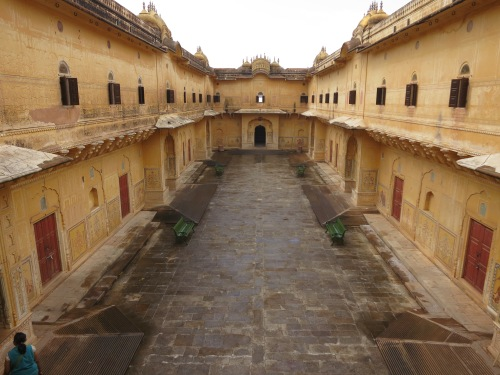 The interior of the Nahargarh Fort