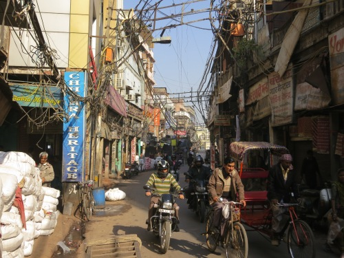 The streets of the Old Delhi section of town