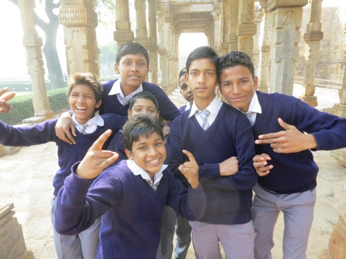 Qutub Minar 10 - School Children Portrait