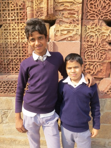 Qutub Minar 21 - School Children Portrait