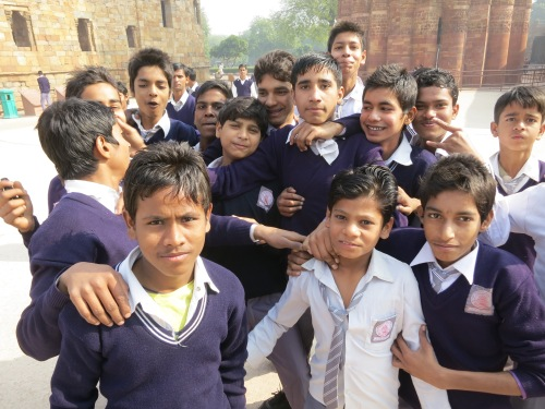 Qutub Minar 22 - School Children Portrait