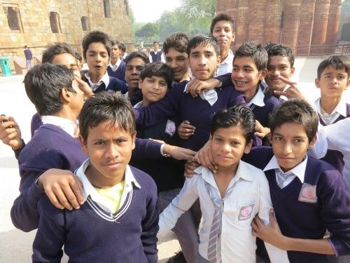 Qutub Minar 22 - School Children Portrait