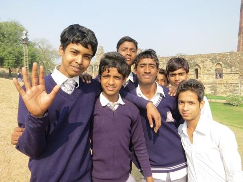 Qutub Minar 26 - School Children Portrait