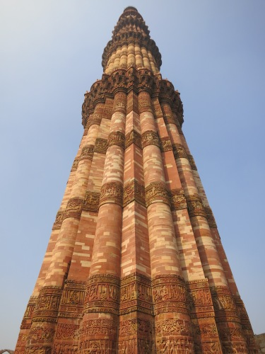 Qutub Minar 29 - Looking up at Pillar