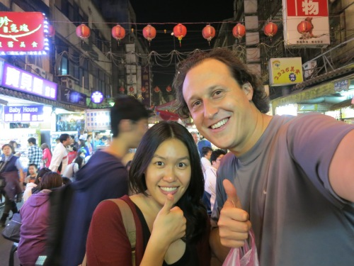 Raohe Night Market 7 - Agatha and I
