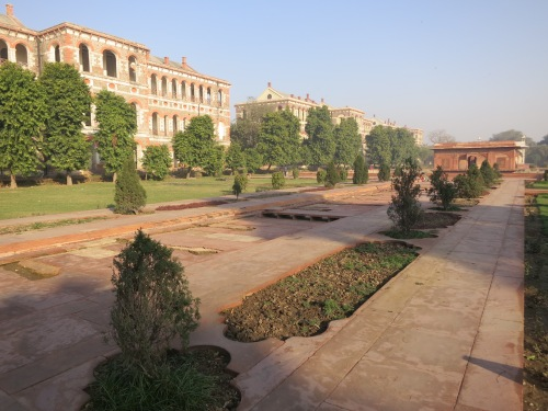 The interior grounds of the Red Fort