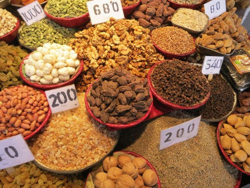 The colors and aromas of the Spice Bazaar are particularly tantalizing