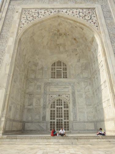 Taj Mahal 58 - Sitting in Archway