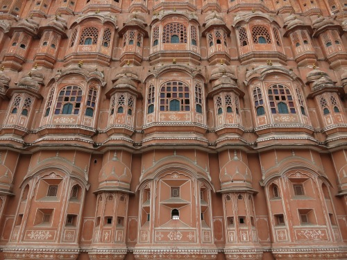 "The Hawa Mahal, or ""Palace of Winds"""