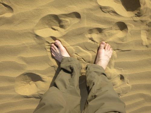 Camel Safari 100 - My Feet in Sand