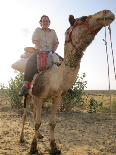 There I am, looking all kinds of awkward atop my camel