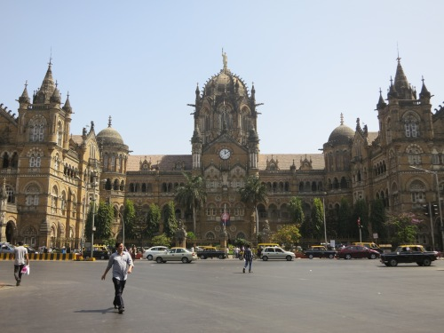 The Chhatrapati Shivaji Terminus (known as the CST) is one of the most distinct structures in Mumbai, combining Gothic, Victorian, Hindu, and Islamic architectural styles into one imposing building (which, incidentally, is now the busiest train station in Asia)