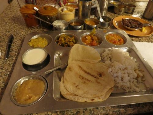Delhi Food Tour 46 - Thali at Hydrabad Canteen