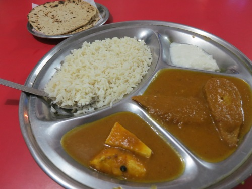 A Thali featuring Malai Kofta and Shahi Paneer