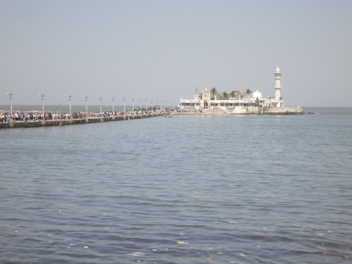 The Haji Ali Mosque as seen from the shore