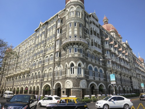 The famous façade of the Taj Mahal Palace (now a fancy-pants hotel)